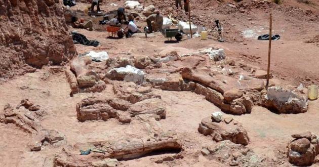 grootste titanosaurus  opgravingen