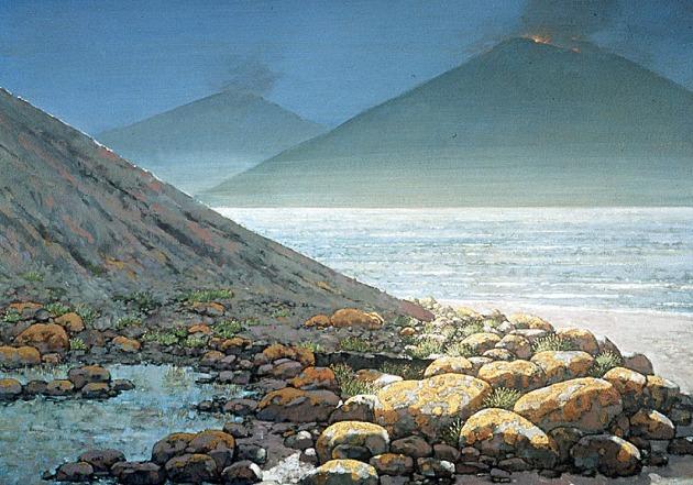 06 siluur, nederland, vulkanen