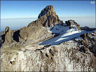 mount kenya ice cap
