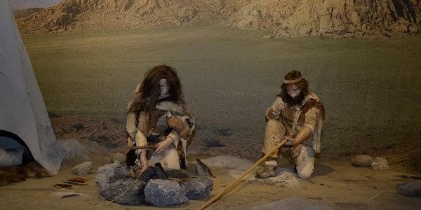 """Neanderthalers  //  """"Life"""" Opstelling voor een tentoonstelling"""