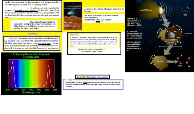 PANSPERMIA   & Interstellar organic matter