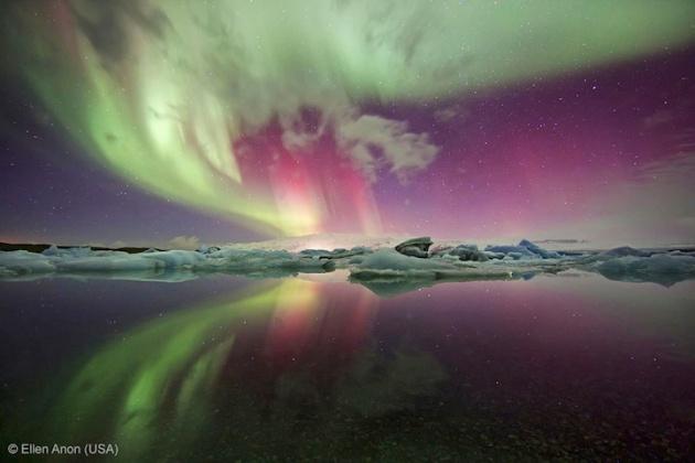 Jökulsárlón, Iceland   Aurora Borealis