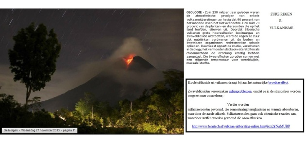 zure regen en vulkanisme