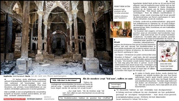 Vernielde koptische kerk