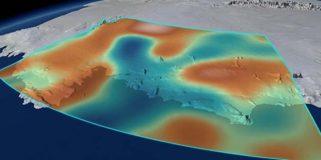 dip zwaartekrarchtveld   antarctica